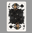 Jack spades playing card vector image