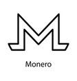 monero icon for internet money crypto currency vector image