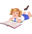 reading girl vector image