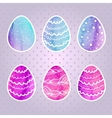 set of colored Easter eggs vector image