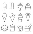 set of ice cream icon collection vector image