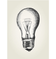 Sketch of a light bulb vector image