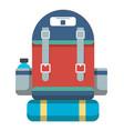 tourist retro backpack icon vector image
