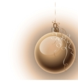 Christmas background with ball vector image