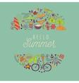 summer beach hand drawn travel vacation vector image