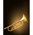 A golden trumpet vector image vector image