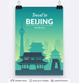 famous city poster vector image