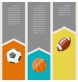 Sports infographics optional banners vector image