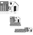 Mortgage calculator vector image vector image