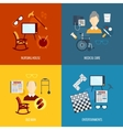 Pensioners life icons flat vector image