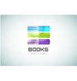 Book template logo icon Back to school Education vector image