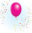 magenta balloon vector image vector image