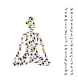 Yoga lotus pose made from asanas for your design vector image vector image