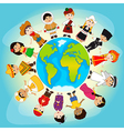multicultural people on planet earth vector image