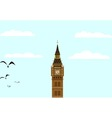 Big Ben Blue Skies vector image