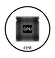CPU icon vector image
