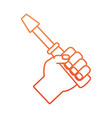 Hand with screwdriver vector image