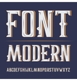 handy crafted modern label font On dark vector image