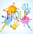 holi festival background vector image