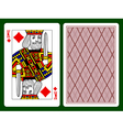 King of Diamonds playing card vector image