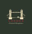 london bridge logo english architectural landmark vector image