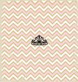 Pink zig zag pattern background vintage with Tiara vector image