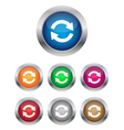 Synchronization buttons vector image