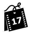 week calendar icon simple style vector image