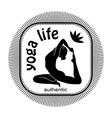 yoga life vector image