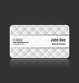 Business card upholstery vector image