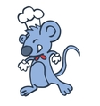 Cute cartoon chef mouse vector image