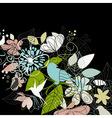 Birds a flower vector image vector image