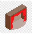 theater stage with a red curtain isometric icon vector image