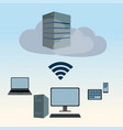 cloud server explanation vector image