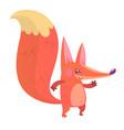 cartoon fox icon vector image