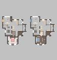 01 House Plan V vector image