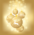 balls gold vector image vector image