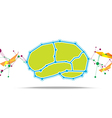 brain abstract background vector image