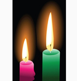 Candle light vector image vector image