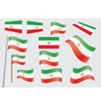 flag of Iran vector image vector image