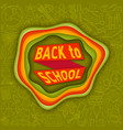 back to school abstract background with paper cut vector image