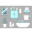 Bathroom Flat Elements vector image