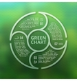 Green forest eco infographic on unfocused blurred vector image