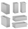 Grey box set vector image