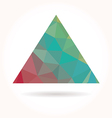 Low poly triangle vector image