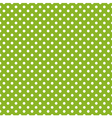 Seamless spring green pattern with white polka dot vector image