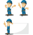Technician or Repairman Mascot 7 vector image