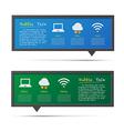 Network icon and 3D bubble talk blackboard vector image