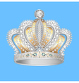 decorative crown of gold silver vector image