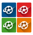 Soccer Logo Icons vector image vector image